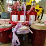 Our farm stand stocks fresh produce, preserves, vinegar and home made candy.
